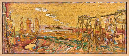 ESTATE DIM. SENZA CORNICE: 94,5x39,5 cm circa DIM. CON CORNICE: 98,5x43 cm 2012-13 Olio su legno
