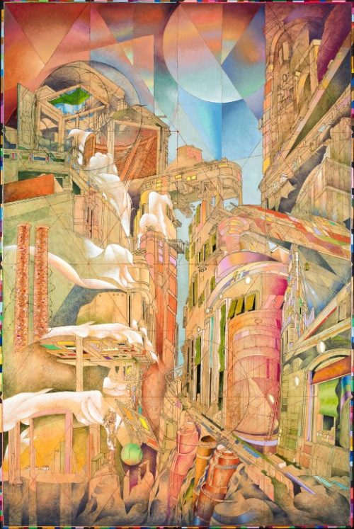 STRADA CAMIONALE CON RISTORANTE DIM. SENZA CORNICE: 120x180 cm no CORNICE 2013 Olio su legno